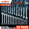 30pc Duo Metric SAE Combination Spanner Set Gear Wrench Standard Head Extra long