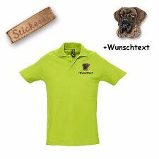 Camiseta Polo Algodón Bordado Gran Danés 1 + Texto personalizado