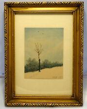 Aquarell,Marie Fritzl,Winterlandschaft. 1945-1950,mit schönem Rahmen.