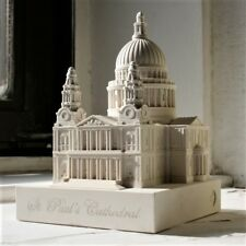 St Paul's Cathedral- Detailed Hand Made Model in Gypsum Plaster 12cm high NEW