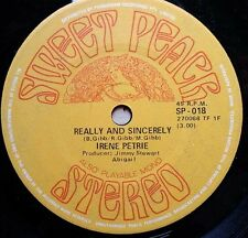 "RARE AUSSIE IRENE PETRIE - REALLY AND SINCERELY - SWEET PEACH 7"" SP 018"