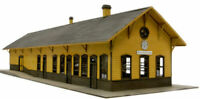 BANTA 2089 HO SCALE SILVERTON DEPOT Model Railroad Building Wood Kit FREE SHIP