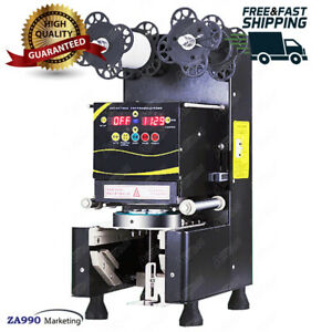 Commercial 360W Automatic Tall Cup Sealing Machine For Tea ,Fruit Juice