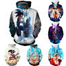 New Women Men 3D Dragon Ball Goku Print Casual Hoodies Pullover Sweatshirt Tops