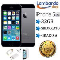 APPLE IPHONE 5S 32GB GRADO A NERO GREY ORIGINALE RIGENERATO RICONDIZIONATO USATO