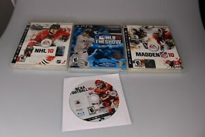PS3 sports 2010 lot. NHL 10, MLB 10 the show, Madden 10, Ncaa football 2010