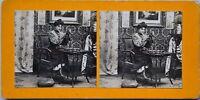 Donna Sarto Francia Foto Stereo PL47 Vintage Analogica c1900