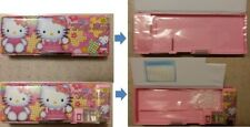 NEW: Hello Kitty 2 sides pencil case / pencil box with pencil sharpener