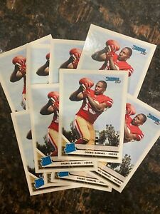 Lot of (10) Deebo Samuel 2019 Donruss #317 Rated Rookie SP RC 49ers Mint Lot
