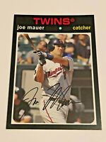 2012 Topps Archives Baseball Base Card #90 - Joe Mauer - Minnesota Twins