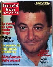 France Soir Magazine du 14/11/1981; Michel Colucci/ Davidoff/ C. Goya/E Mitchell