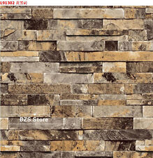 3D Stone Wall Vinyl Tv Background Sticker Nature Emboss Roll Brick Wallpaper