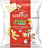 Simply Cheetos Puffs White Cheddar Cheese Flavored Snacks, .875 Ounce, 36 Count