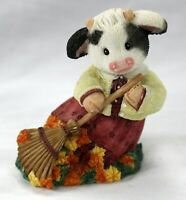 Moo Autumn Be In Pictures - VTG Mary Moo Moo Figurine/Statue - Enesco
