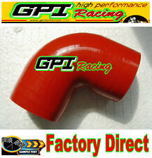 """GPI Silicone 90 degree Elbow hose ID64mm 2.5"""" inch Turbo INTERCOOLER PIPE RED"""