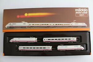 8871 Train Set Ice Br 410 002-0 Märklin Mini Club Z Gauge Boxed + Top+