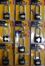 10x Tool-Tech Cast Iron Padlock Long Shackle 38mm: Sheds, Gates, Garage, Lock-Up