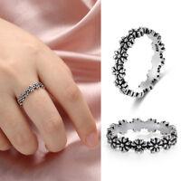 beauté les femmes la mode des bijoux 925 argenté daisy bague fleur fille don
