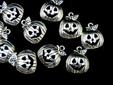 10 Pcs Tibetan Silver Halloween Pumpkin Charms 18mm Craft Beading Jewellery J113