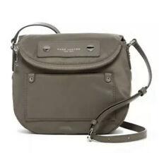 $180 New MARC JACOBS NEW YORK Women's Crossbody QUARTZ GREY Nylon Hand Bag