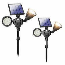 Solar Spot Lights, Outdoor 36 LED Landscape Lamps Double Head 1000 Lumens Bright