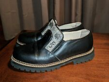 RARE GEIER WALLY AUSTRALIA BLACK LEATHER ANKLE BOOTS SHOES 37 US 6.5 7 GOTH PUNK