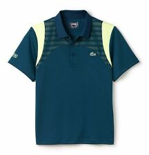 LACOSTE SPORT POLO SHIRT - LARGE T5 - GREEN & YELLOW - DH1346 - BNWT - RRP £79