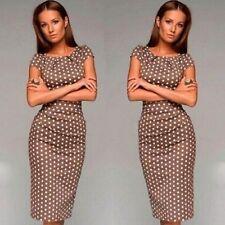Unbranded Cocktail Polka Dot Regular Size Dresses for Women