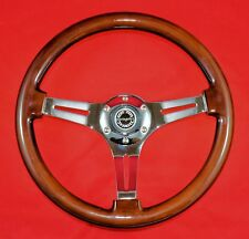 "13.5"" Wood Sport Steering Wheel & Hub. Fits MG MGB 70-81"