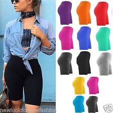 CYCLING LADIES COTTON STRETCHY LYCRA SHORT ACTIVE CASUAL SPORT WOMENS LEGGINGS
