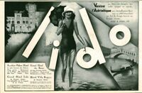 Publicité ancienne Lido Venise l'Adriatique 1928 issue de magazine
