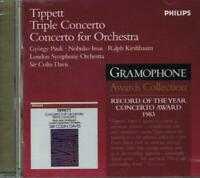 Tippett : Triple Concerto & Pour Orchestre / Colin Davis, Londres S.O - CD
