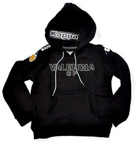 Valencia Kappa Hoody Kinder schwarz FC CF Fußball Gr. 110 5 Jahre Kids Pullover