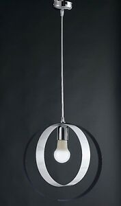 Hanging Chandelier Modern Chrome Circles Colorful Colors Combined