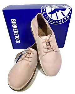 Birkenstock Gary Women's Sz 7 (EU38)Narrow Fit Pink Suede Leather Oxford Shoes