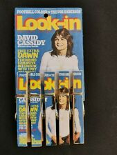 Striking David Cassidy Look-In exclusive Peg-Set - New - Free P+P