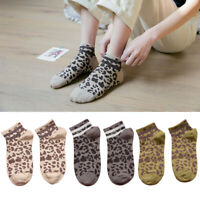 Popular Soft Casual Leopard Print Funny Socks Stretchy Ladies Women Cotton 1Pair