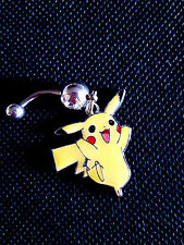 Pokemon Pikachu Yellow Belly Ring Navel Ring 14G Surgical Steel