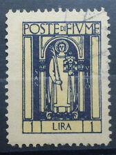 1923   Regno D' Italia 1 Lira  Posta di Fiume