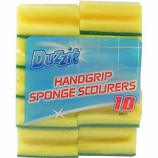 10 Pack Duzzit Handgrip Sponge Scourers Wiping Cleaning Kitchen Dish Plate Wash