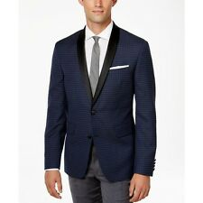 $325 BAR III MENS SOLID BLUE SLIM-FIT SUIT EVENING SPORTS JACKET BLAZER SIZE 42R
