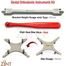Lot de 3 Positionnement Hauteur Jauge Orthodontie Star Jauge Band Morsure Stick