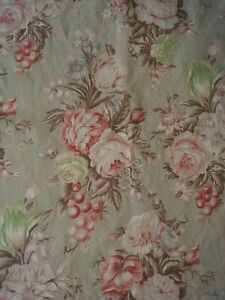Classic Ralph Lauren Charlotte Floral Green Cottage Rose Shower Curtain 70 x 72