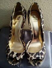 """Baker Women's 'Jess"""" Leopard Print and Gold High Heels 5"""" Size 9M"""