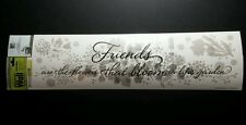 MAIN STREET WALL CREATIONS FRIENDS ARE FLOWERS LOT 10PCS 1 SHEET SHEER STICKER