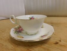 Foley White Gold Trim Floral Flowers Cup Saucer
