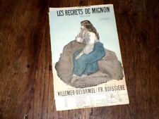 Les regrets de Mignon mélodie partition chant 1885 Fréféric Boissière