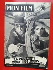 01/12/54 MON FILM n°432 G.MADISON et J.WELDON dans LA POURSUITE DURA SEPT JOURS