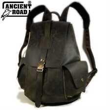 "ANCIENT ROAD Genuine Leather Backpack Mens Vintage style 14"" Laptop Bag YP012-AU"