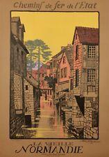 Affiche originale - Géo Dorival - La vieille Normandie - 1913